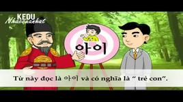hoc tieng han so cap bang phim hoat hinh - bai 2: chi bang nguyen am cung tao ra tu moi - vui hoc tieng han