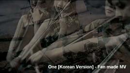 one (unofficial mv korean version) - dbsk