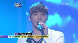 i can't & heartsore story (music bank 600th) - wheesung, kim tae woo