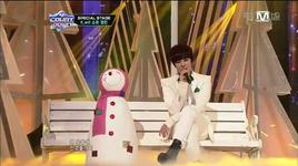 white love (121220 m! countdown christmas special stage) - k.will, so you (sistar), jeong min (boyfriend)