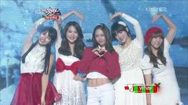 lovely 94's winter songs (121221 music bank year end special) - suzy (miss a), sulli choi, krystal f(x), so hyun, jy