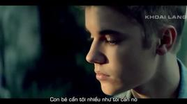 as long as you love me (vietsub, kara) - justin bieber, big sean