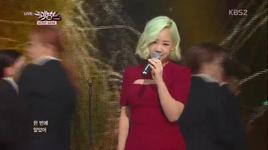healing (131122 music bank) - yoo sung eun