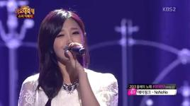 when i first saw you (131227 kbs gayo daejun) - yo seob (beast), eun ji (a pink)