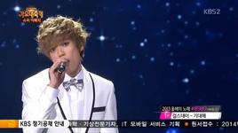 a whole new world (131227 kbs gayo daejun) - niel (teen top), ji eun (secret)
