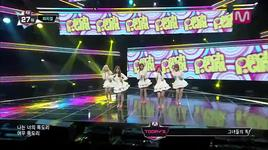 fox fur muffler (140206 m countdown) - peach girl