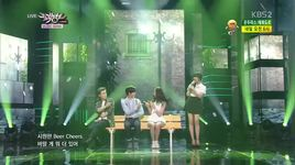 a midsummer night's sweetness (140620 music bank) - san e, raina (orange caramel)