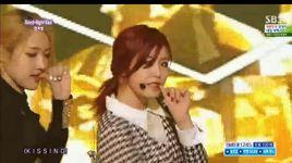 good-night kiss (140622 inkigayo) - hyo sung (secret)