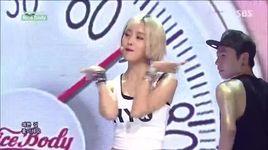 nice body (140706 inkigayo) - hyomin (t-ara)