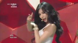 red (140801 music bank) - hyuna (4minute)