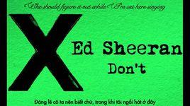 don't (lyrics, vietsub) - ed sheeran