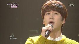 at gwanghwamun (141128 music bank) - kyu hyun (super junior)