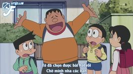 doraemon tap 356: hay an chocolate nobita - tieng hat dem trang xanh - doraemon