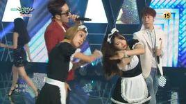 shut up (150821 music bank) - baechigi, kim bo hyung (spica)