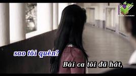 bai ca khong quen (karaoke) - dam vinh hung