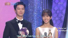 kim so hyun & yook sung jae - best couple in kbs drama awards 2015 (vietsub) - sung jae (btob), kim so hyun