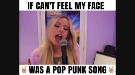 if can't feel my face was a pop punk song - chloe adams