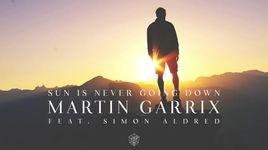 sun is never going down - martin garrix, simon aldred