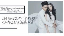 se khong quay ve (lyrics video) - dong nhi, anh tu (the voice)