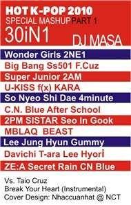 hot k-pop 2010 special mashup part 1 - dj masa