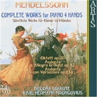 complete works for piano 4 hands - mendelssohn