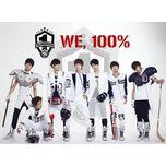 we, 100% (1st single) - 100 %