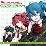 signal green - sevencolors, hatsune miku, gumi, megurine luka