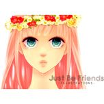 just be friends (illustrations & jbf remix album) - megurine luka