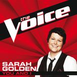 you and i (the voice performance) (single) - sarah golden