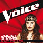 stay with me (the voice performance) (single) - juliet simms