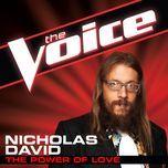 the power of love (the voice performance) (single) - nicholas david
