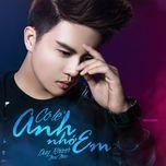 co le anh nho em (mini album) - duy khanh zhouzhou