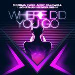 where did you go (remixes ep) - andy caldwell, jonathan mendelsohn, morgan page