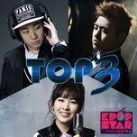 sbs kpop star 3 top 3 - bernard park, kwon jin ah, sam kim
