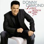 love songs - donny osmond, marie osmond