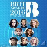 brit awards 2016 nominations - v.a
