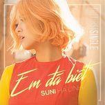 Em Đã Biết (Single) - Suni Hạ Linh