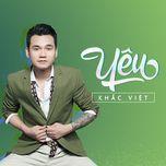yeu (single) - khac viet
