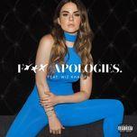 fuck apologies (single) - jojo, wiz khalifa
