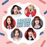 love sign (mini album) - laboum
