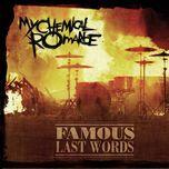famous last words (single) - my chemical romance