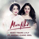 mua nho (single) - minh trang lyly, huong giang idol