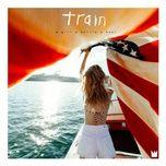 a girl a bottle a boat - train
