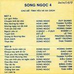 bang nhac song ngoc 4 (truoc 1975) - v.a